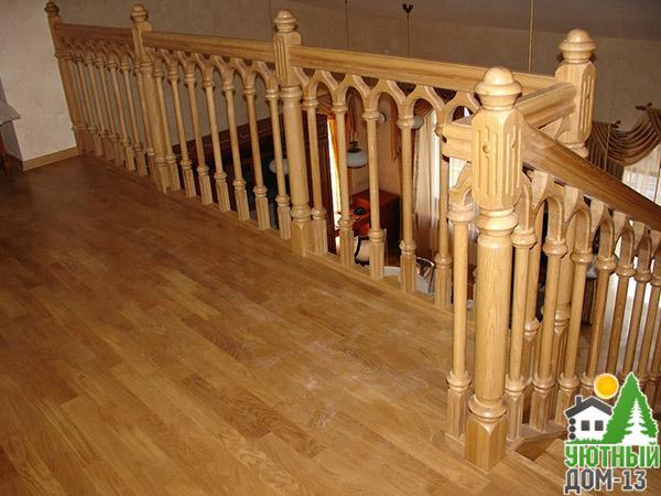 купить деревянные перила для лестницы