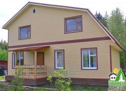 деревянный дом сайдингом