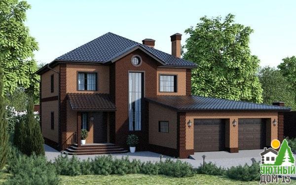 построить двухэтажный дом кирпича