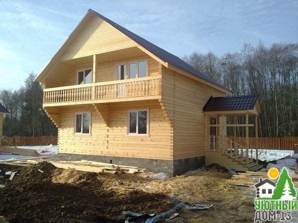 дом деревянный двухэтажный бруса