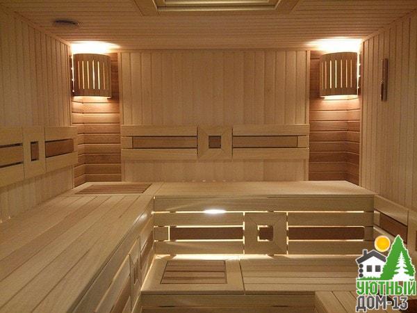 деревянная баня под ключ