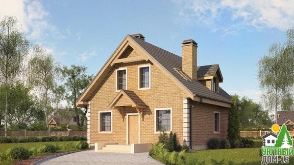 небольшие дома из кирпича проекты