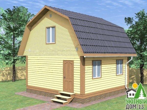 дачный дом из бруса под ключ недорого