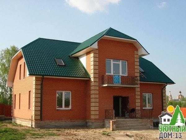 дачный дом из кирпича