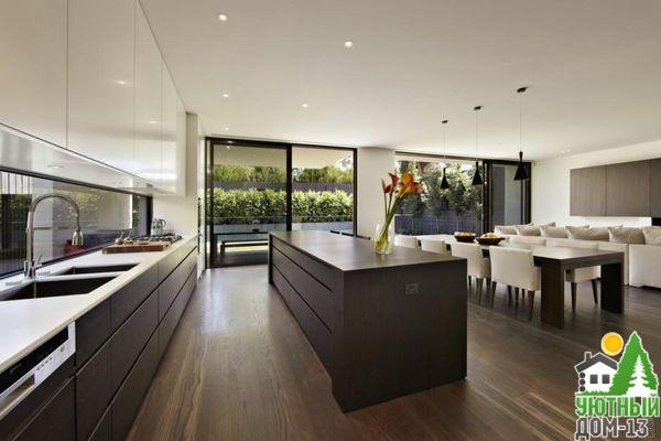 оптимальный размер кухни в частном доме