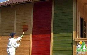 чем красить дом из бруса снаружи