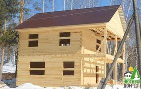 этапы строительства деревянного дома из бруса