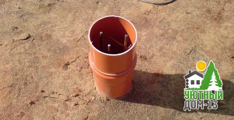 Как сделать столбчатый фундамент из пластиковых труб своими руками