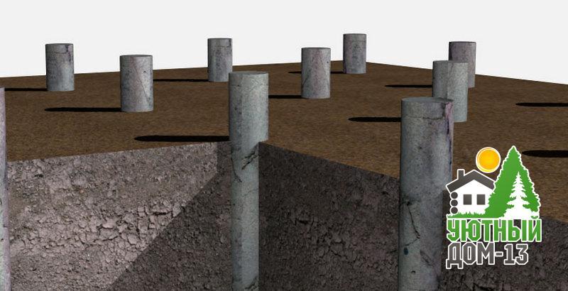 Столбчатый фундамент из асбестоцементных труб: особенности, плюсы и минусы, технология возведения